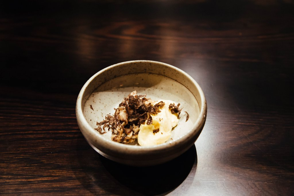 Chawanmushi—egg cream, shiitake and truffles