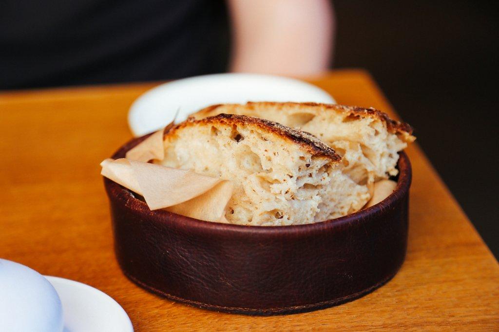 Sourdough bread and olive oil