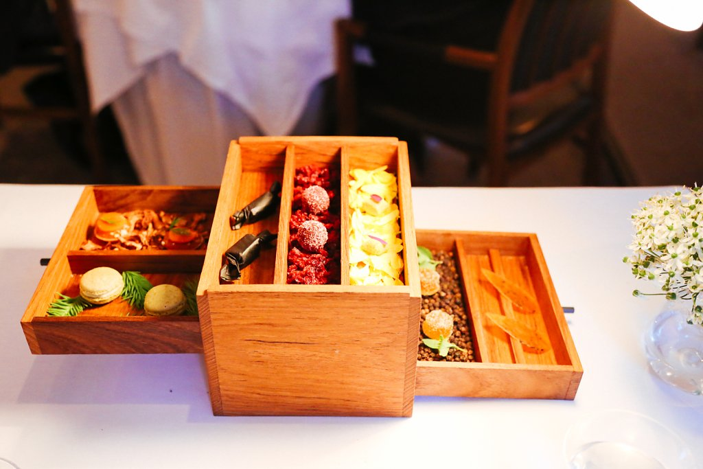 "Bento box with ""Swedish fika"""
