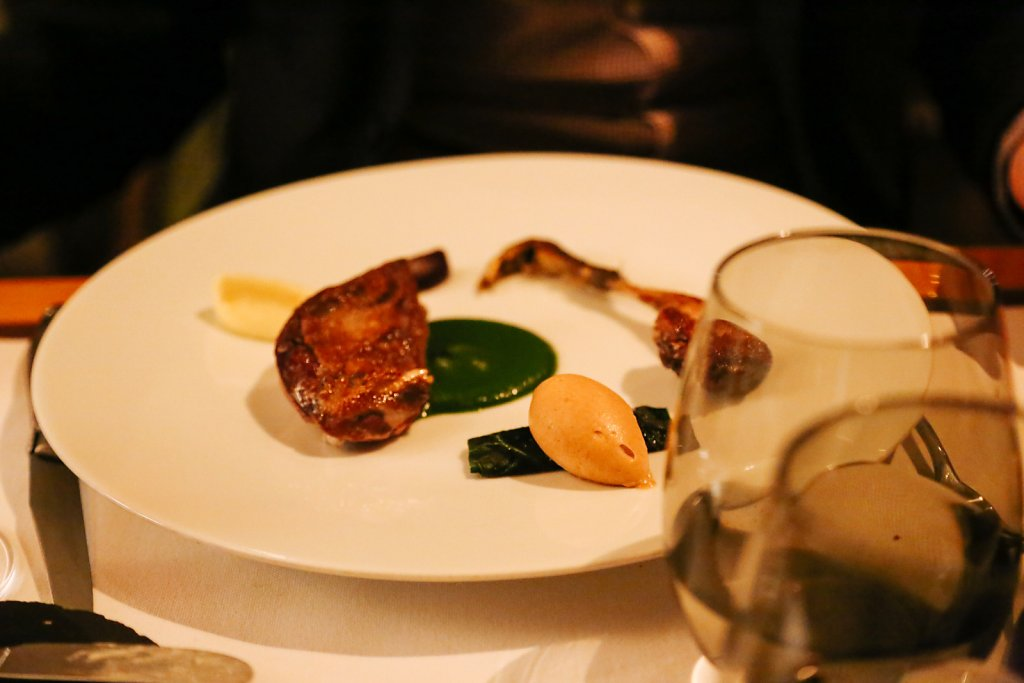 Roasted breast and leg of Challans duckling, chestnut, cépes, figs